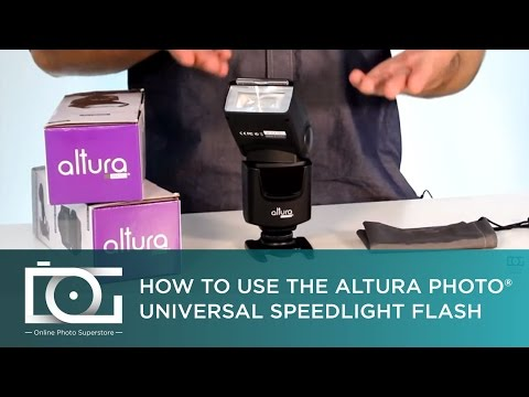 TUTORIAL | How To Use the Altura Photo® AP-UNV1 Universal Flash for CANON, NIKON & Other Cameras
