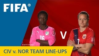 Côte d'Ivoire v. Norway - Team Lineups EXCLUSIVE
