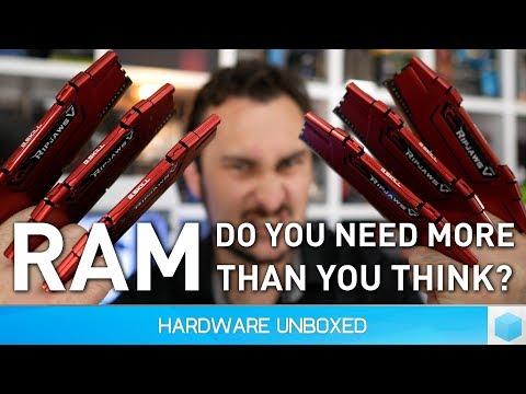 How Much RAM Do Gamers Need? 4GB Vs. 8GB Vs. 16GB Vs. 32GB [2017]