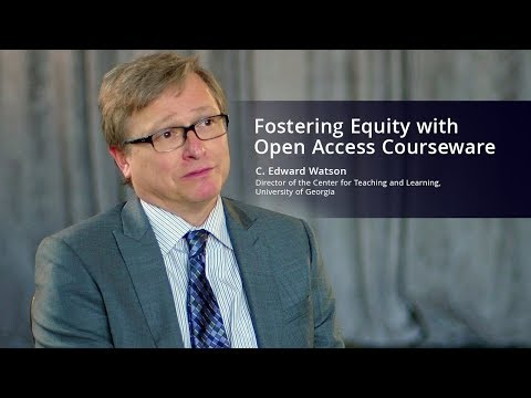 Fostering Equity with Open Access Courseware