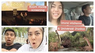 4 AM midterms, skipping school, Room (2015) screening, and Universal Studios | College Weekly Vlog