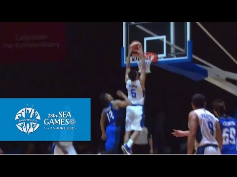 Basketball Men's Semi Finals Philippines vs Thailand Highlights | 28th SEA Games Singapore 2015
