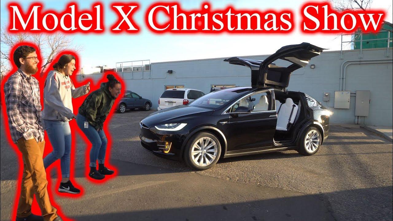 Tesla X Christmas 2020 Coworkers FREAK OUT Over Tesla Model X Christmas Show!   YouTube