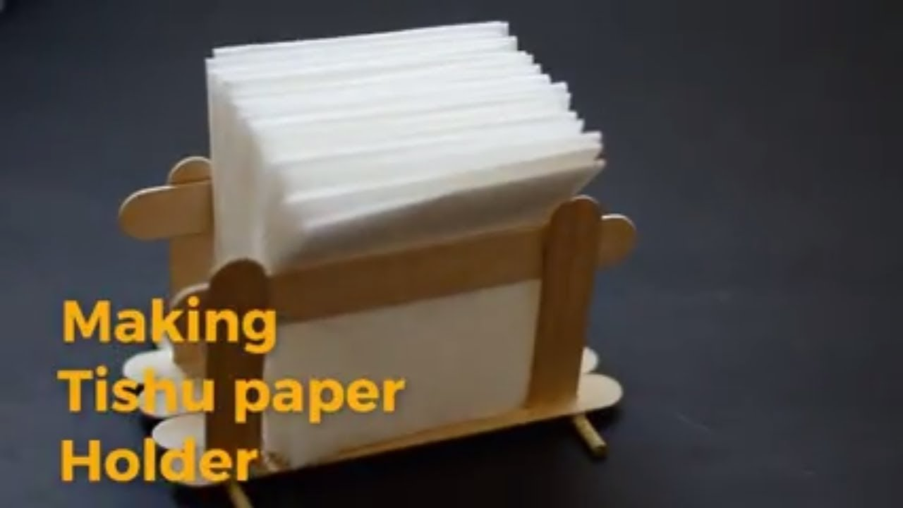 How To Make A Tissue Paper Holder Easy Diy Craft Youtube