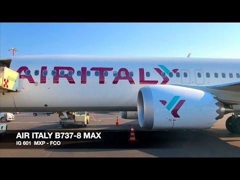 TRIP REPORT | AIR ITALY B737-8 MAX | Milan MXP ✈ Rome FCO | Economy Class