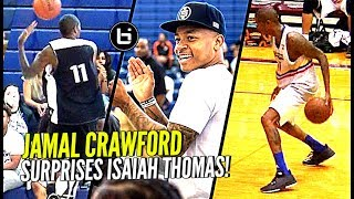 Jamal Crawford CRAZY Dimes in Isaiah Thomas' Zeke End Game!! + 3rd Crawsover Game Highlights! thumbnail