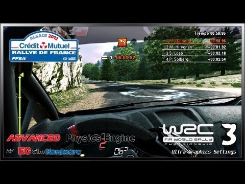 WRC 3 - Rallye de France / Advanced Physics EC Sim Hardware v0.5