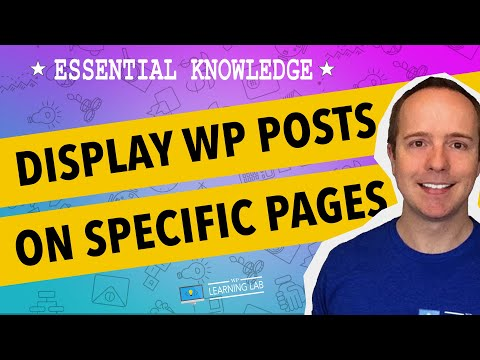 How To Get WordPress Posts To Page – Displaying Posts On A Page | WP Learning Lab