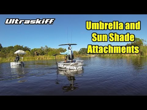THE ULTRA BOAT Seat Umbrella / Fishing Rod Holder pike ...   Bass Boat Umbrella