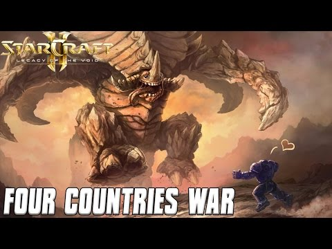 Four Countries War - Starcraft 2 Mod