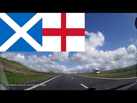 Driving in England & Scotland --- From Glasgow to Cambridge 6 hours