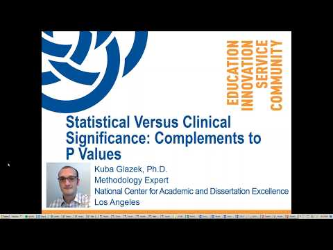 Statistical Versus Clinical Significance - Kuba Glazek, Ph.D.
