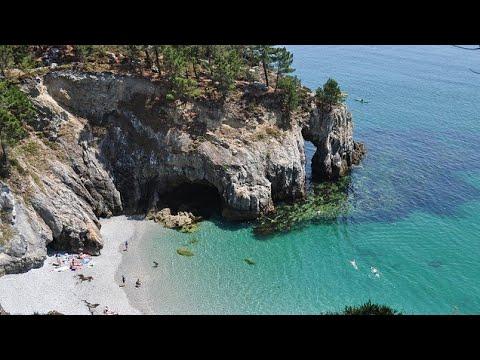 L'île Vierge en drone 4K 7e plus belle plage d'Europe (Enez Verc'h)
