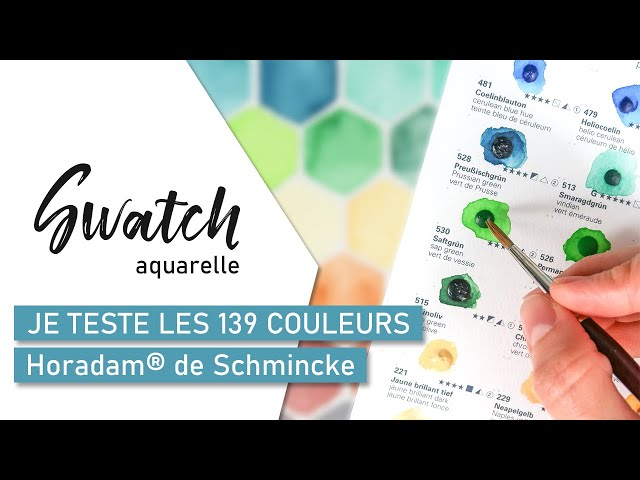Swatch aquarelle 🎨 Je teste les 139 couleurs de Schmincke Horadam