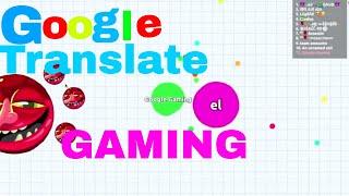 Google Translate Plays Agar.io