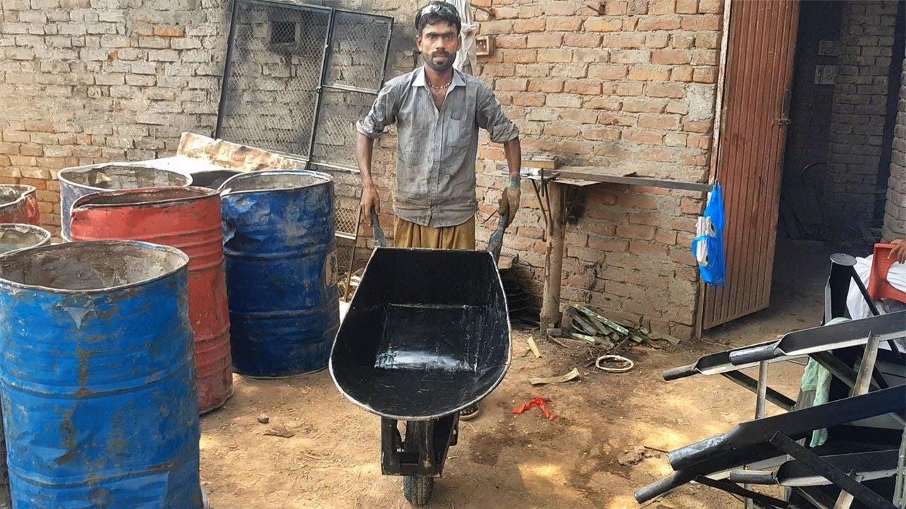 Download Reuse Oil Drum | Making Wheelbarrow With Oil Drum