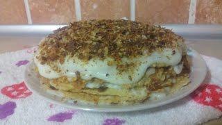 Торт Наполеон + заварной крем (по Дюкану)/Cake Napoleon (by Dyukanu)