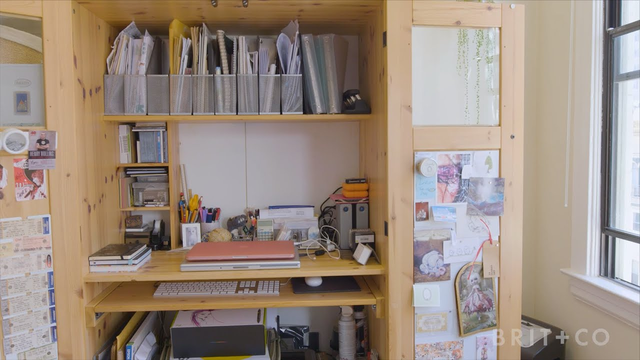 Tiny Spaces: A Small SF Studio With Lots of Personality - YouTube