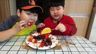 직접만든 과즙최고!과일 탕후루 먹방 초등학생ASMR