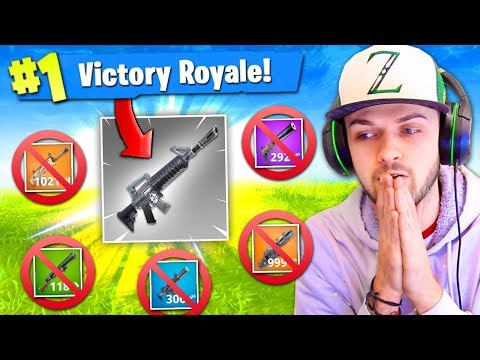 GREY GUNS *ONLY* CHALLENGE in Fortnite: Battle Royale! (HARD)