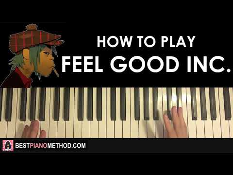 HOW TO PLAY - GORILLAZ - FEEL GOOD INC. (Piano Tutorial Lesson)