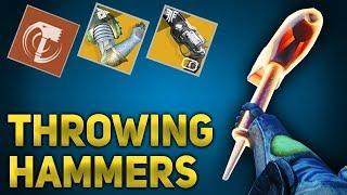 1 Hit Throwing Hammers Build! Code of the Devastator Titan | Destiny 2 Forsaken