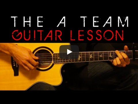 The A Team Ed Sheeran Guitar Tutorial Easy Acoustic Lesson