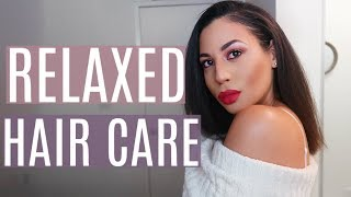 My Relaxed Hair Care Routine | Healthy & Strong Hair