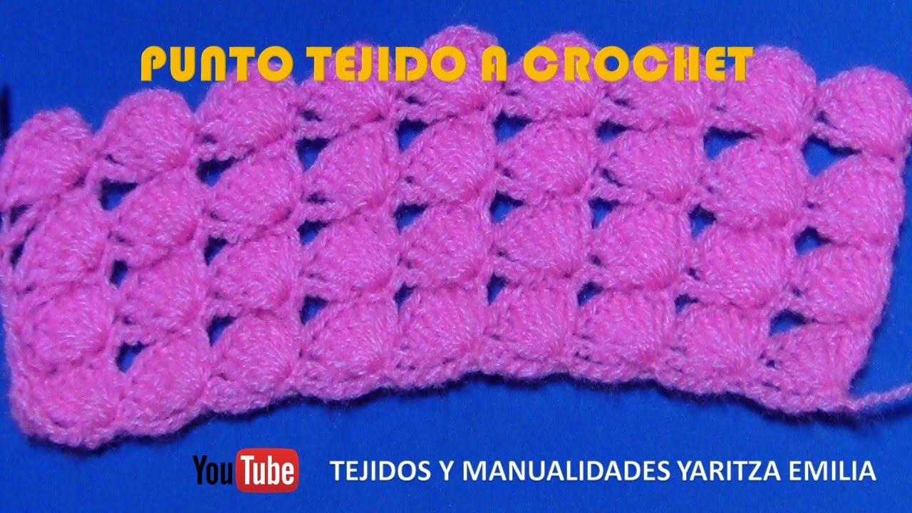 Punto tejido a crochet para colchas y cobijas de bebe - YouTube
