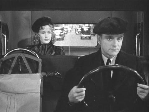 Priscilla Lane & James Cagney  The Roaring Twenties Taxi