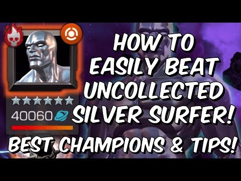 How To Easily Beat Uncollected Silver Surfer! - Best Champions & Tips - Marvel Contest of Champions