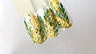 Дизайн ногтей: Мимоза гель-лаками