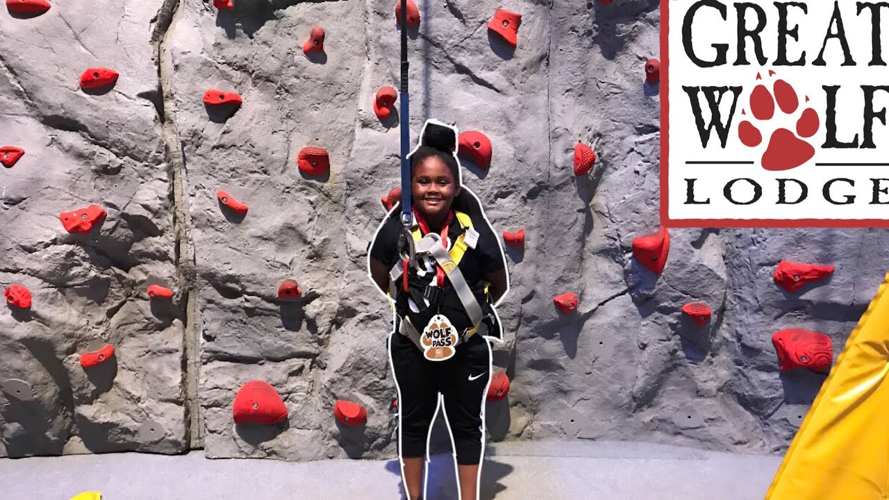 Great Wolf Indoor Rock Climbing Family Fun Kid Activities for children!Chanel First Time