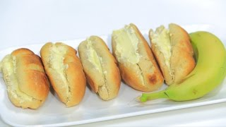 خبز بالموز و كريمة الزبدة   نجلاء الشرشابي