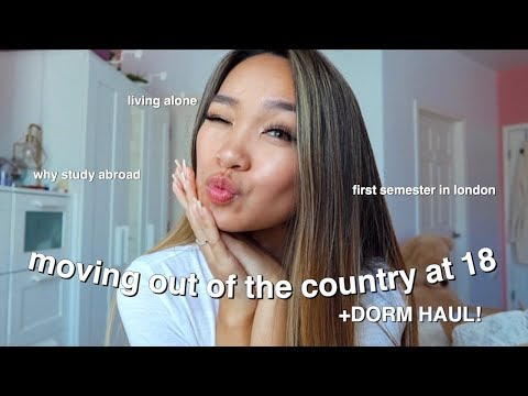 I'M MOVING TO LONDON FOR COLLEGE ✰ dorm haul + study abroad Q&A!