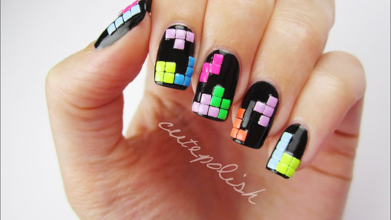 3D Tetris Nails | Nerd Nail Series - YouTube