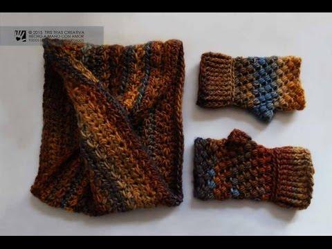 Cuello infinito moebius sin costura a ganchillo - Como hacer colcha de ganchillo ...