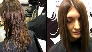 видео выпрямление волос в самаре