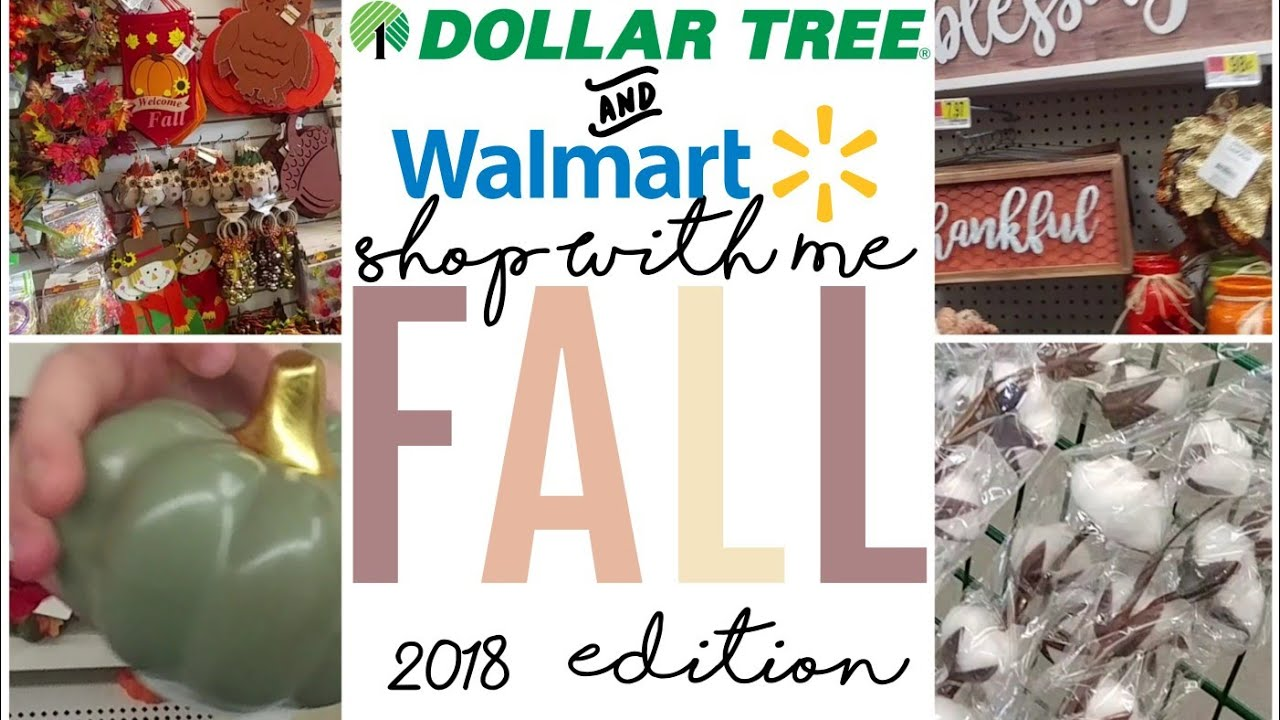 Shop With Me! Dollar Tree & Walmart | Fall 2018 Edition - YouTube