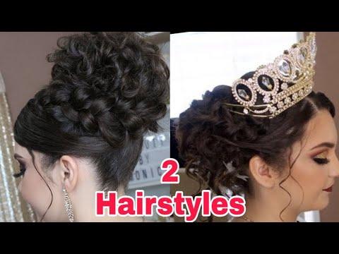 2-peinados-recogidos-fÁciles-cabello-largo- -elegant-updos- -easy-hair-style-for-medium-or-long-hair