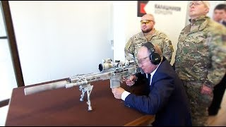 Putin tests a new Russian sniper rifle