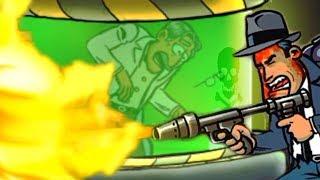 Во всем виноват ПРОФЕССОР в мультик игре для детей про Зомби Guns Gore & Cannoli