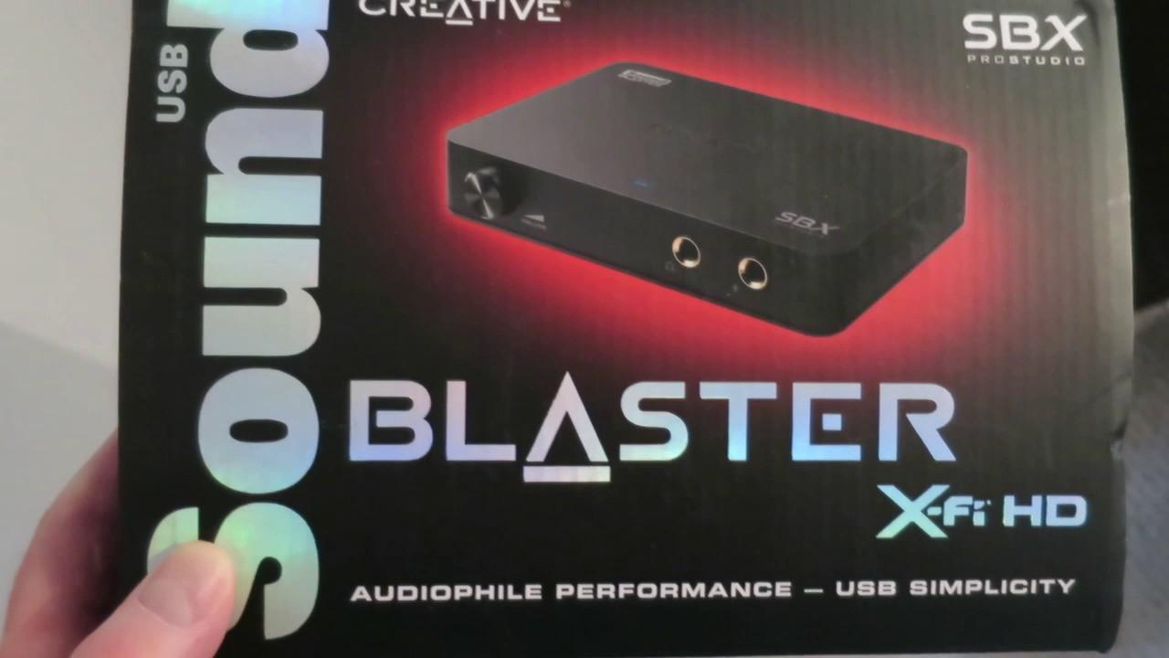 Sound Blaster X-Fi HD External Sound Card Review