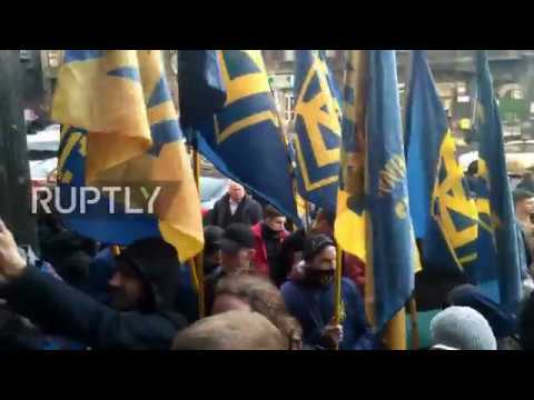 Ukraine: Protesters call on National Bank to ban Russian banks from Ukraine
