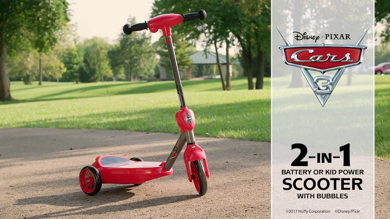 6v Lightning Mcqueen 3 Wheel Electric Bubble Scooter By Huffy Youtube