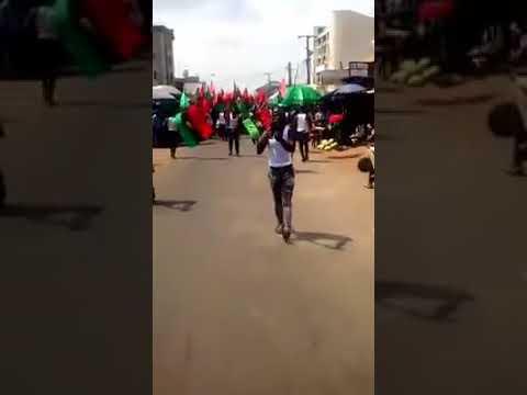 Anambra Election: 'Vote & Die' - IPOB Members Protest In Onitsha (Watch Video)
