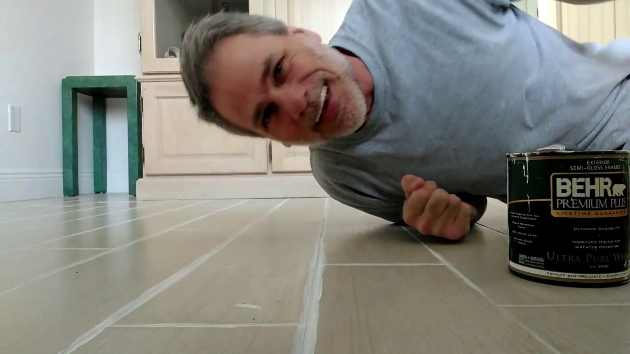 Painting Grout Lines With Exterior Semi Gloss Paint
