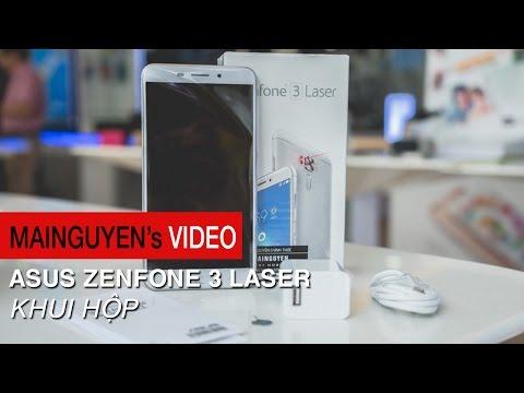 Khui hộp Asus Zenfone 3 Laser - Vỏ kim loại, RAM 4GB, phơi 32s, giá 6 triệu