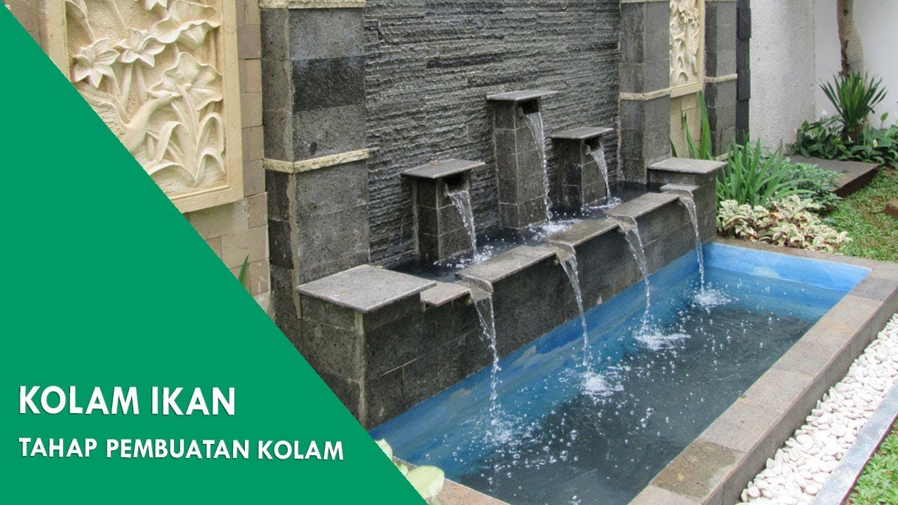 Kolam Ikan Minimalis Building Minimalist Pond For Koi Fish