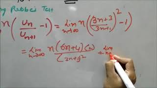 Raabe's (Higher Ratio) Test - Convergent series